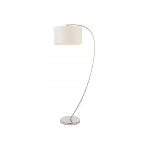Josephine floor lamp in nickel