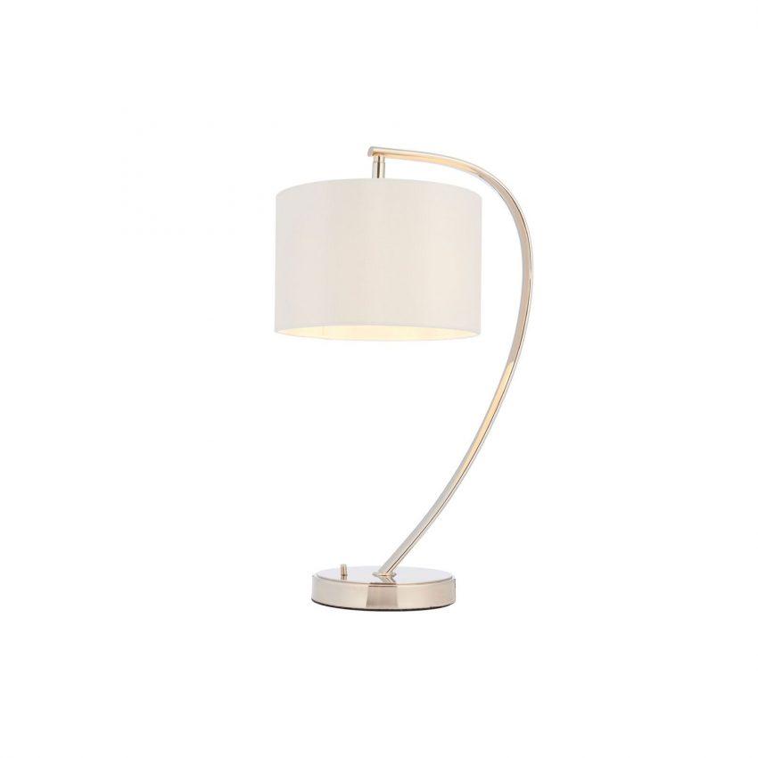 Josephine table lamp in nickel