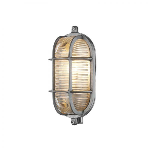 Admiral Small Oval Wall Light Nickel