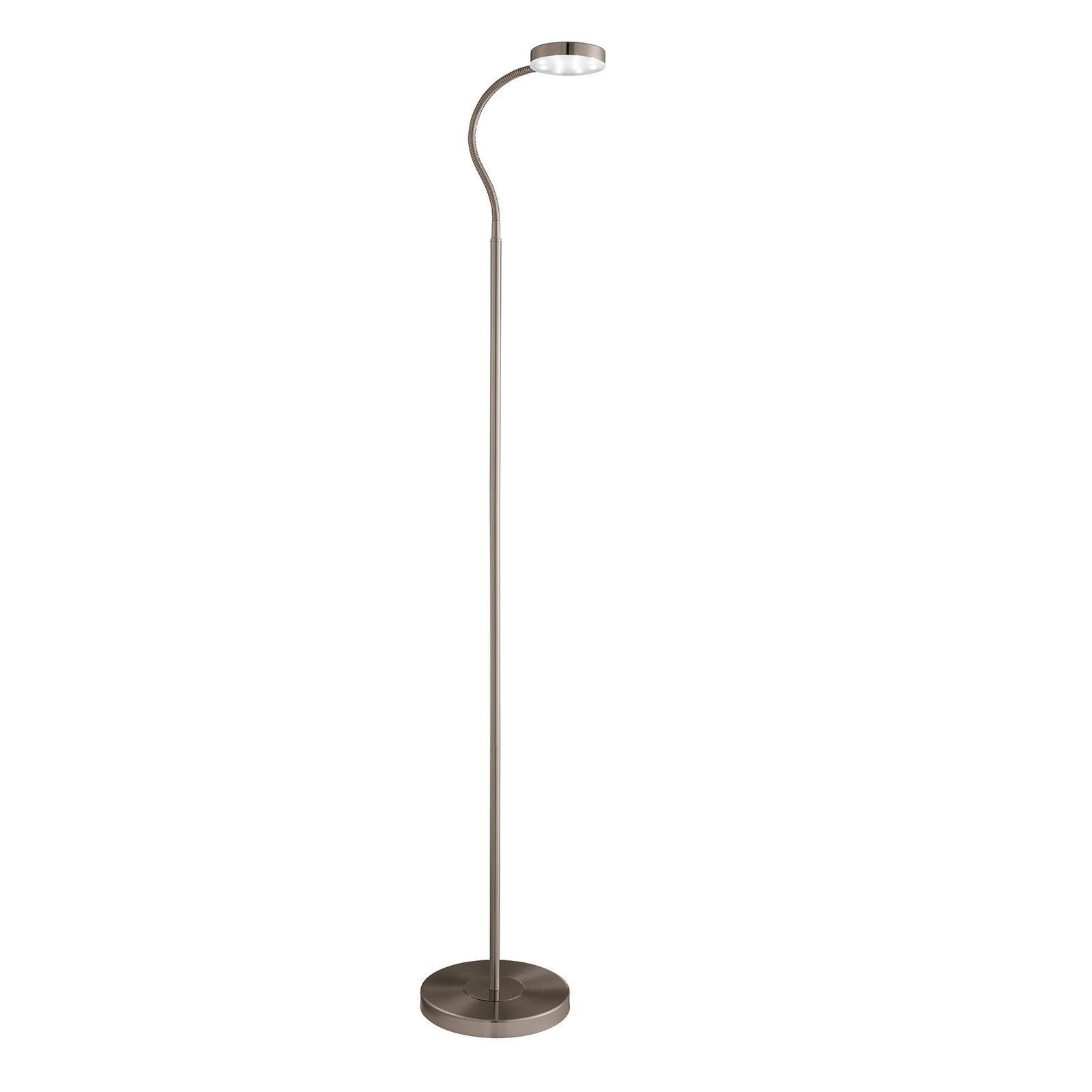 ADJUSTABLE LED ANTIQUE BRASS ROUND HEAD FLOOR LAMP