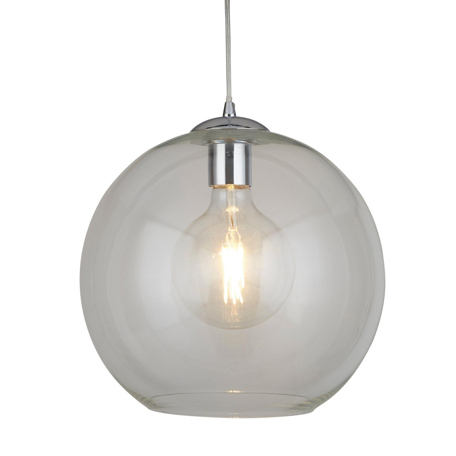 BALLS 1 LIGHT ROUND PENDANT (30CM DIA) CLEAR GLASS