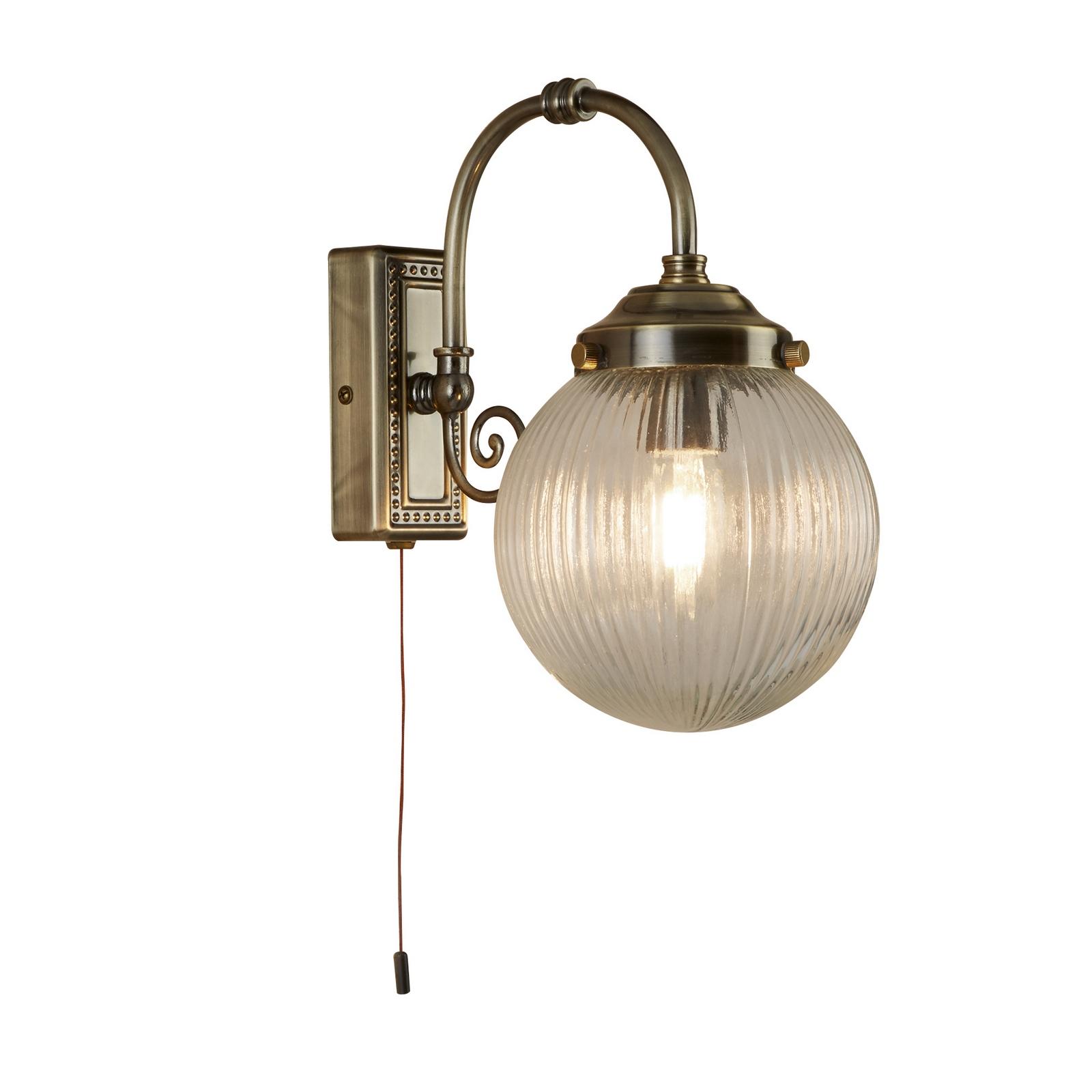 Brass Smoked Glass Wall Lights Uk