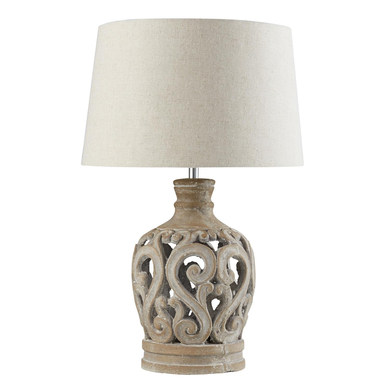 TABLE LAMP - STONE BASE