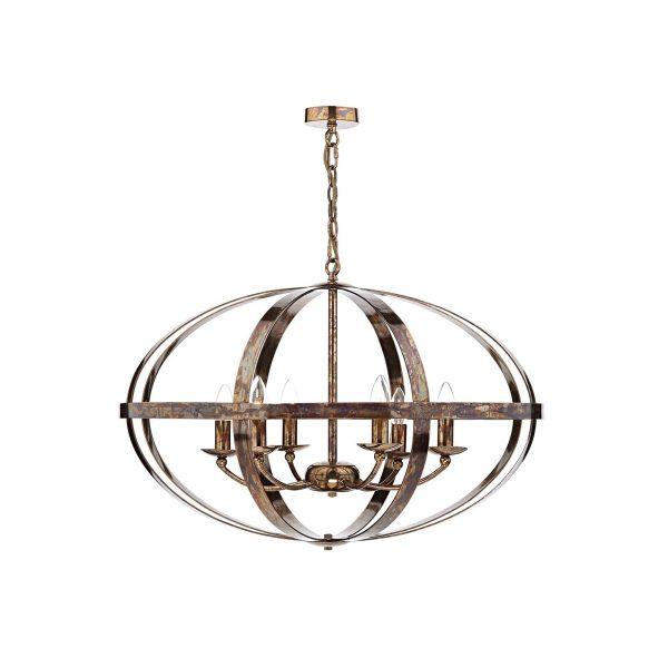 Symbol 6 Light Pendant Petrol Copper