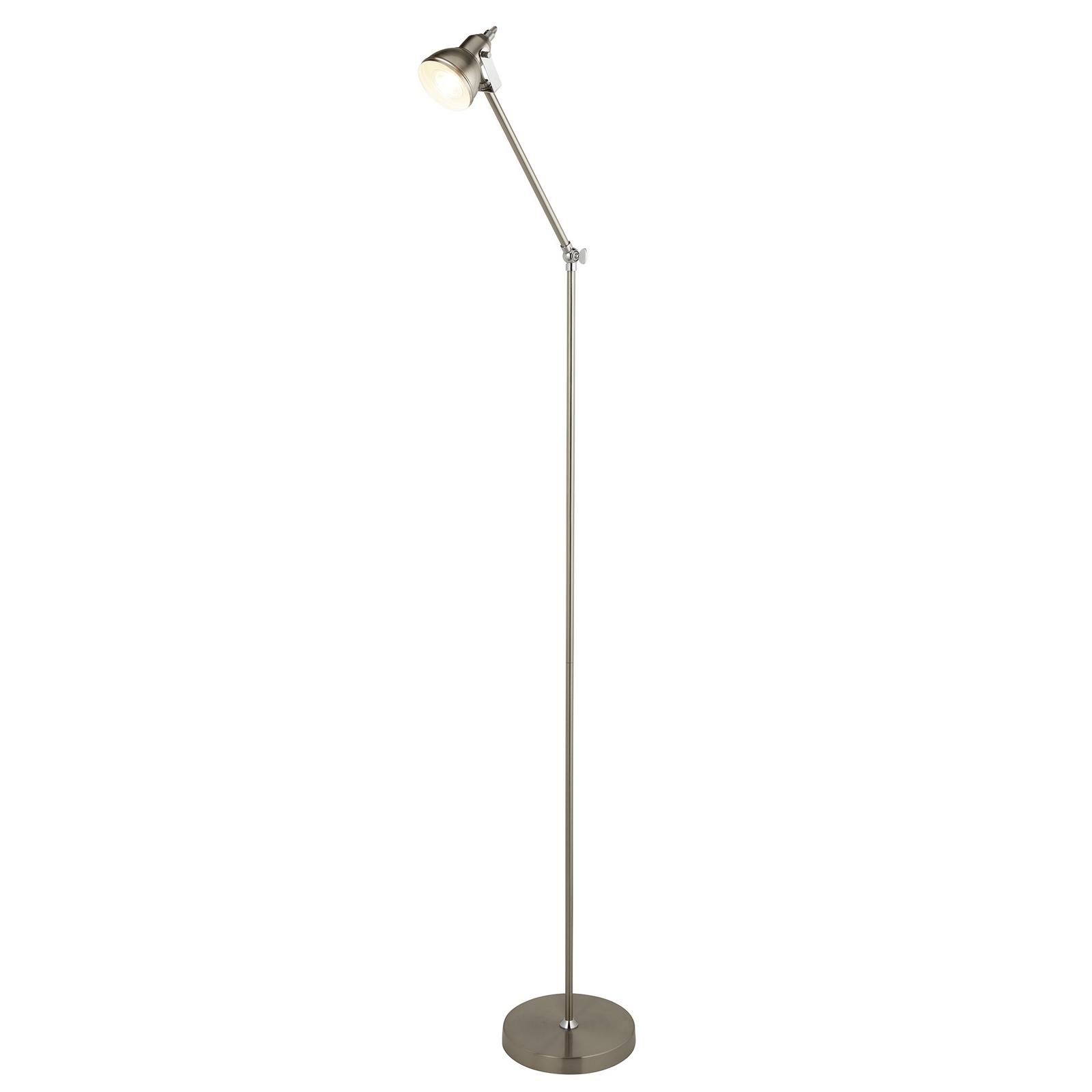 Focus floor lamp satin silver
