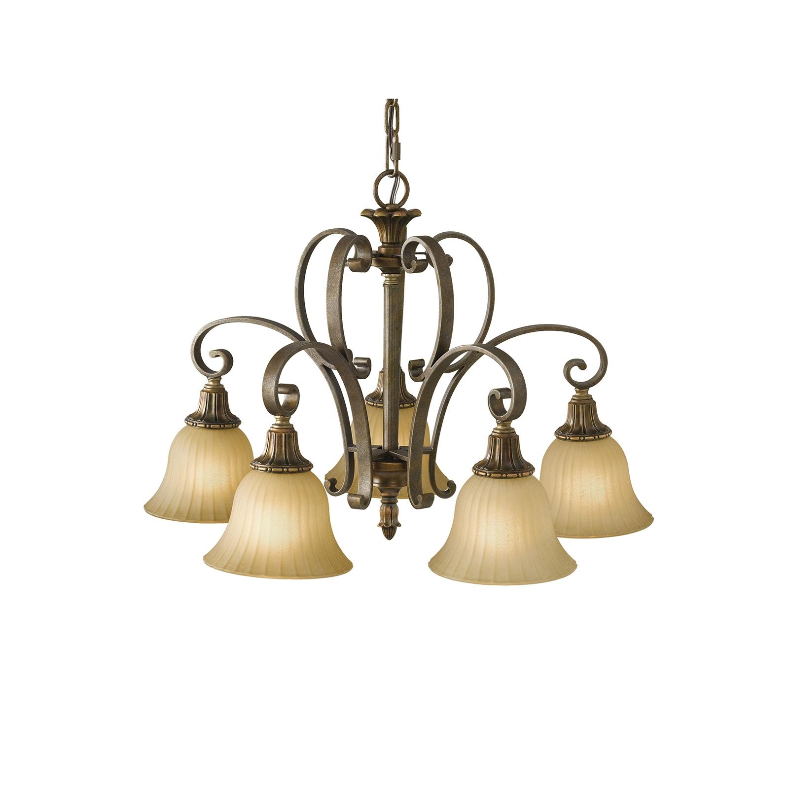 Kelham hall 5 light down chandelier