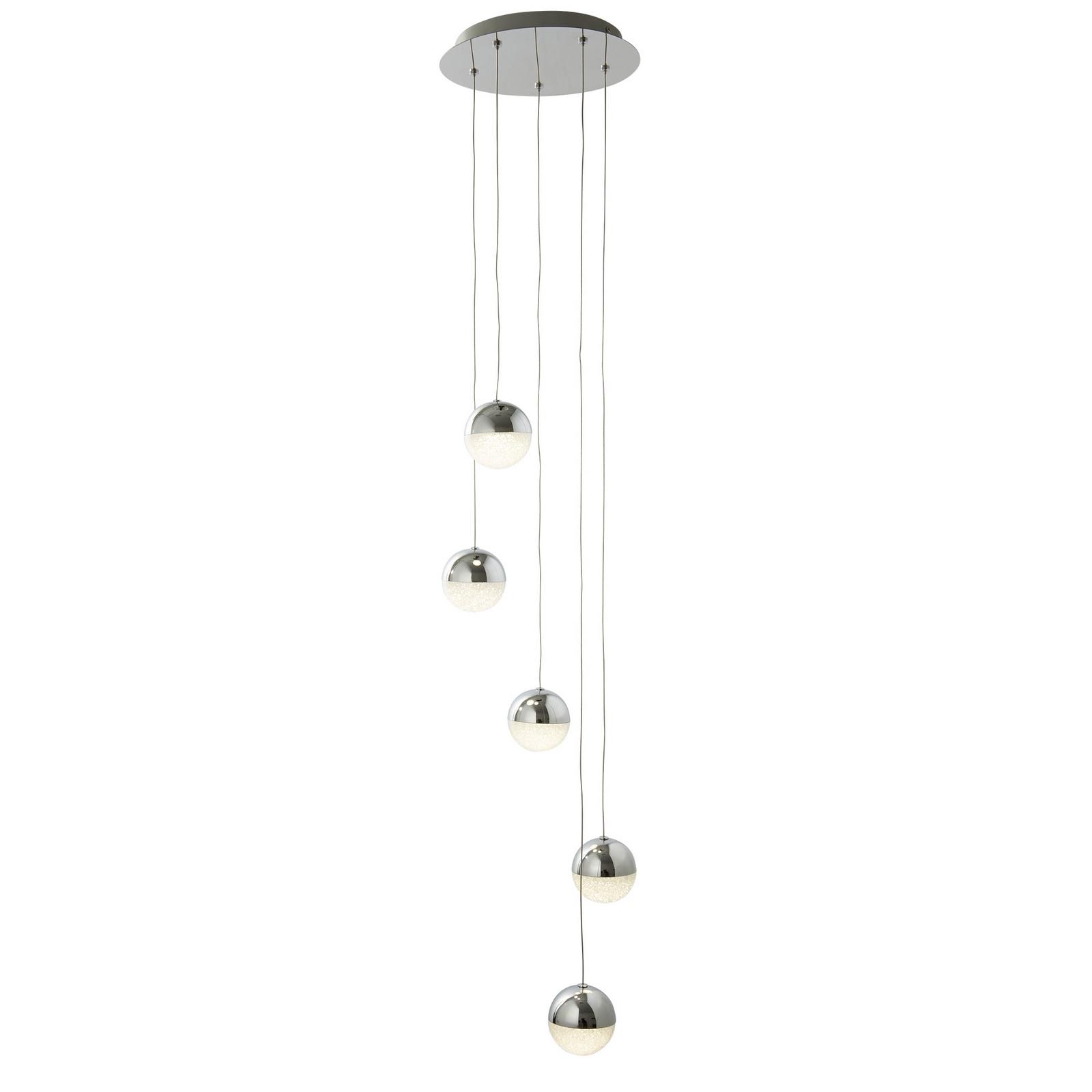 Marbles 5 light multi-drop pendant